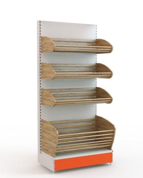 Торговый стеллаж для хлеба 1950*900*500