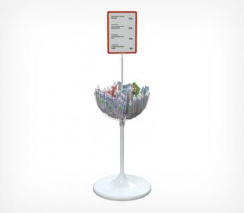 Дисплей UNIBOWL с разделителями и держателем информации
