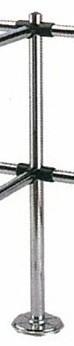 Столбик ограждения с 6-ю муфтами Т-образный