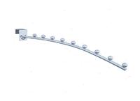 К-026-350 Кронштейн дуга тонкий на трубу 14*30  с 9 шариками(L-350)