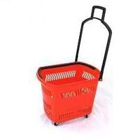 Корзина-тележка на 4 колесах пластиковая 30 л
