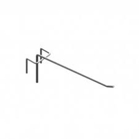 Крючок одинарный 100 мм для перфорации хром.цинк