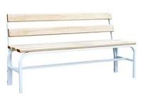 Скамейка со спинкой С-600